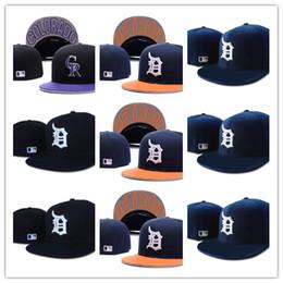 Top Design New Detroit Fitted Baseball cappelli sportivi Per uomo e donna  Di alta qualità Ordine della miscela a buon mercato all ingrosso cappello  fornire ... 6057a19690ab