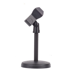 konferenzen mikrofon Rabatt Universalklemme Portable Desktop Tisch Mikrofon Clamp Clip MIC Ständer Halter für Computer Konferenz Studios Mikrofon