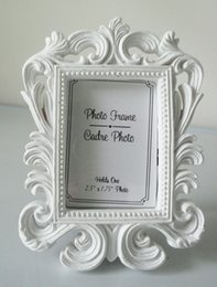 Wholesale Place Card Photo Frames - Baroque photo picture frame 10PCS LOT wedding party place name card holder favor Black & White Options
