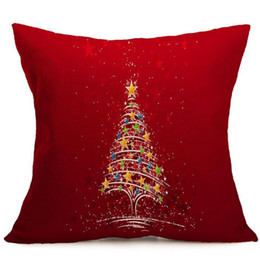 Feliz ano novo natal on-line-10 Design Feliz Natal fronha papai noel impresso sofá capa de almofada do carro cintura travesseiro caso decoração de casa Feliz Ano Novo presentes