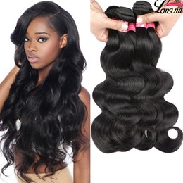 Wholesale Wet Wavy Hair Extensions - 8A Mink Brazilian Body Wave Unprocessed Brazilian Virgin Hair Body Waves 3or 4 Bundles Virgin Wet and Wavy Brazilian Human Hair Extension