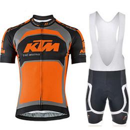 2019 calções de moda 2019 KTM Ciclismo Mangas curtas jersey bib shorts conjuntos de bicicleta de estrada dos homens tops calças de fitness profissional terno moda respirável 61113 calções de moda barato