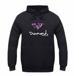 suministro de diamantes sudaderas Rebajas Fashion Diamond Supply Co Print Hombres Sombrero grueso Sudaderas con capucha Mujeres Casual Pullover Pareja Otoño Invierno Sudadera de manga larga Tops