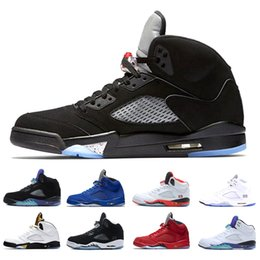 Großhandel Nike Air Jordan 5 Aj5 Retro 2018 Neue Männer 5 5s Basketball Schuhe OG Triple S Schwarz Weiß Zement Rot Blau Wildleder Metallic Gold Sport