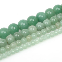 Wholesale aventurine stone jewelry - 8mm 15'' strand 4 6 8 10mm Natural Green Aventurine Stone Beads Loose Spacer Beads For Jewelry Making DIY Bracelet Necklace