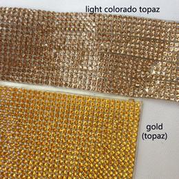 En gros SS6 2mm Glod Strass Mesh Hotfix Feuilles Bling Cristal Verre Feuilles De Mariage Événement Décorations Robe De Mariée Accessoires de couture ? partir de fabricateur