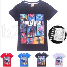 Wholesale halloween clothes girls - Summer T shirts Boy Girls Short Sleeve Fortnite Children Clothes T Shirt Kids Comfortable T-shirt Funny Clothes KKA5446