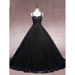 aa00940a406 2019 schwarze spaghetti-kleider günstig Prom Dresses Sexy herzförmiger  Kragen