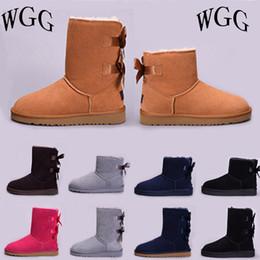 Argentina UGG Nuevo Hot Australia Classic WGG mujeres botas de invierno castaño negro gris rosa botas de nieve para mujer tobillo rodillera tamaño 5-10 a la venta cheap hot pink boots Suministro