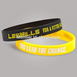 Wholesale Crossfit Wristbands - whole sale300pcs fitness crossfit lesmill wristband silicone bracelets free shipping by DHL