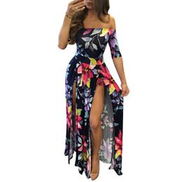 2017 летний пляж женщины комбинезоны и комбинезоны бордовый цветок печати с коротким рукавом с плеча высокий низкий комбинезон плюс размер 5XL от