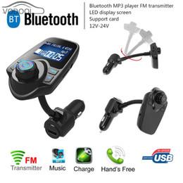 haut-parleur bluetooth anglais Promotion Ecran LCD Kit de voiture mains libres Bluetooth V3.0 EDR Auto Carro Lecteur MP3 Transmetteur FM Modulateur USB Chargeur de voiture