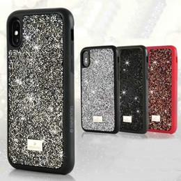 Canada Marque étincelant strass téléphone shell shell pour iphone x 7 7plus 8 8plus 6 6s 6plus dur dos Offre