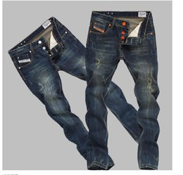 Wholesale old jeans - Free Shipping New brands jeans Mens repair straight retro Do old Little feet men Long pants retro Jeans size 28-36