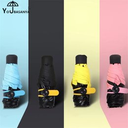 Wholesale Foldable Sunshade - 2017 New Creative 5-Fold Mini Umbrella Super Light Small Foldable Pocket Umbrella Rain Women kids Men sunshade style paraguas