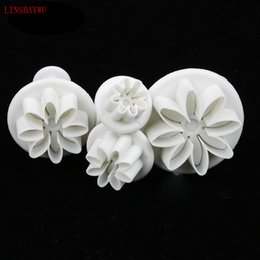plum cutter Promo Codes - LINSBAYWU 4pcs Plum Flower Plunger Cutter Sugarcraft Fondant Cake Decorating DIY Tool Cookie Molds Biscuit Cutter
