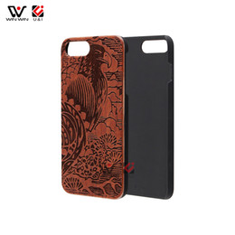Wholesale Cool Cell Cases - Cool totem laser engrave wood cell phone cases for iPhone 5s 6s 6plus 7plus 8plus 7 8 x plus 3C phone accessories Dropshipping