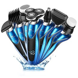Wholesale Men Shaver Set - CEENWES 7 In 1 Electric Razor Men Beard Trimmer Rechargeable Waterproof Rotary Shaver Wet and Dry Grooming Set for Men and Women