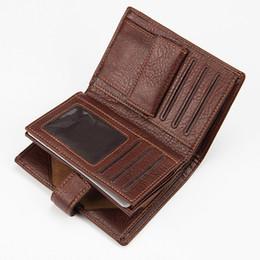 Pietre frizione online-modello di pietra retrò Uomo corto Portafoglio in vera pelle Cuoio portamonete Portafoglio carte carteira masculina vintage clutch per teenager