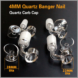 Wholesale Real Degree - Real quartz banger 14mm 18mm 100% Quartz 4MM Domeless Nail Female Male 90 Degrees Quartz Banger Nail with wax jar