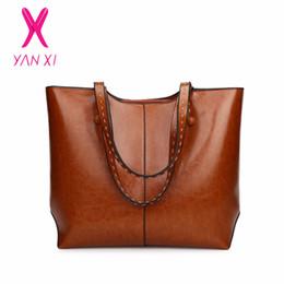 Кожаные сумочки из кожи онлайн-YANXI Leather Handbags Big Women Bag High Quality Casual Female Bags Trunk Tote Spanish  Shoulder Bag Ladies Large