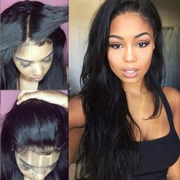 Wholesale Ponytail Long - Lace Front Human Hair Wig Silk Top Full Lace Wigs Silky Straight Can Be High Ponytail With Baby Hair For Black Woman