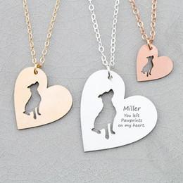 персонализированные Медный Питбуль собака сердце Шарм ожерелье женщины ювелирные изделия мама подарок груза падения принято YP6045 cheap necklace bulls от Поставщики ожерелье быков