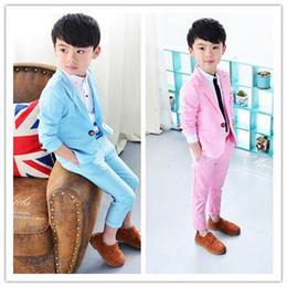 2019 розовый костюм для галстука-бабочки Европейский случайный мальчик костюм новый детский платье из двух частей / мальчик жилет костюм джентльмен костюм / больше стиля в магазин выбрать
