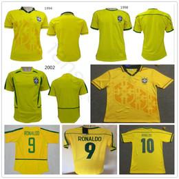 1994 1998 2002 Classic Vintage Brazil Home Yellow Soccer Jersey Carlos  Romario Ronaldo Ronaldinho Rivaldo 94 98 02 Custom Football Shirt ronaldo  brazil ... 87ebe7dac
