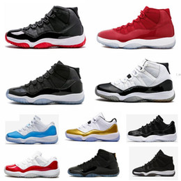 "Wholesale rubber numbers - With Box + Number ""45"" High Quality 11 Spaces Jams Basketball Shoes 11s Bred Concord Gamma Blue Men Women shoes 72-10 Gym Red Sneakers"