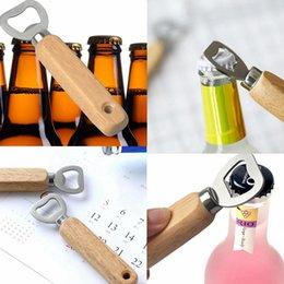 Wholesale wooden handle bars - Wooden Handle Bottle Opener Beer Openers Bar Kitchen Party Tools Beer Bottle Opener Wine Bottle Opener AAA211