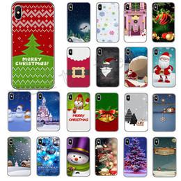 Feliz natal iphone on-line-Para o iphone x 7 8 6 6 s plus 5 s case samsung merry christmas soft phone case santa claus boneco de neve de alta qualidade capa