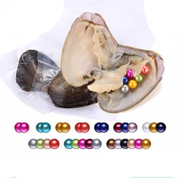 Wholesale Fashion Horoscopes - 2018 NEW 1pc 6-8mm Round Variety Good Of Color Freshwater Pearl Oysters Individually Vacuum Pack Fashion Trend Gift Surprise Shell A-0052