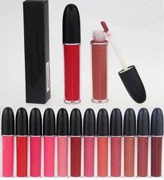 Brilho labial 24 cores on-line-24 pcs HOT FREE SHIPPING Nova Maquiagem Retro Matte Líquido Lábios Lip Gloss 12 Cor de Alta qualidade