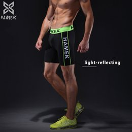 Wholesale reflective running clothes - Sports Shorts Men Running Shorts Compression Tights Gym Clothing Breathable Reflective Quick Dry Fitness 2017 New