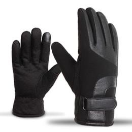 2019 luvas sem dedos crochet livre 2018 Luvas Luvas de Inverno Dos Homens de Couro Toque de Inverno Anti Slip Térmica Luva Térmica Mão Mais Quente Luvas Homens Guantes handschoenen