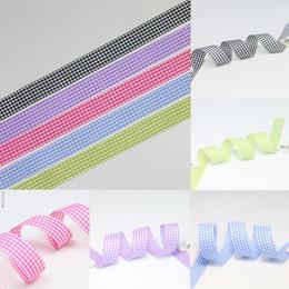Клетчатая сатиновая ткань онлайн-Ширина 20 мм ремесло ткань Лента мода плед атласная лента для DIY головные уборы свадьба праздничное событие украшения подарок упаковка zd126