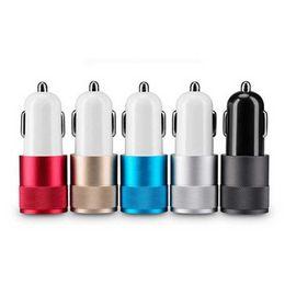Deutschland Arbeiten Sie 12V 2.1A 1.0A Aluminiumdoppel2-port USB-Universalauto-Aufladeeinheit für Samsung-smartphone-Telefon für Iphone 5S 5 6S DHL um Versorgung