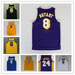 Wholesale basketball bryant - Men's #8 kobe 24 bryant Basketball Jersey High Quality Basketball Jersey, kobe bryant Stitched Logos All Style top quality
