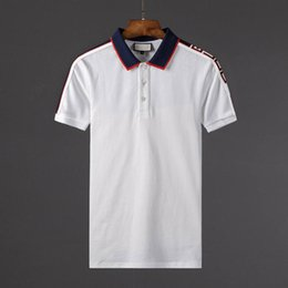 Wholesale Men Designer Tee Shirts - nyy summer fashion designer luxury G brand tag clothing men fabric letter polo t-shirt turn-down collar casual women tshirt tee polo shirt