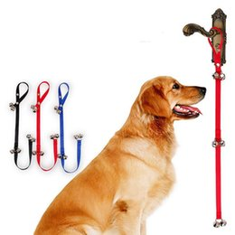 Wholesale Rope Stakes - Pet Doorbell Rope Dog Training Tool Pet Cat Tinkle Bell Toy Puppy House Training Bells Adjustable Rope Tinkle 150pcs OOA3995