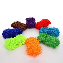 Wholesale Microfiber Wash Car - New Arrive Hot Auto Car Sponge Washing Brush Microfiber Chenille Cleaner Clean Accessories pupular