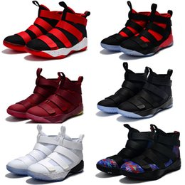 Wholesale Special Shoes Men - 13 Color Special Limited Edition James Soldiers 11 Men's Basketball Shoes for Top quality Man-at-arms XI Sports Training Sneakers Size 7-12