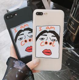 Pour iPhone 6 / 6S plus 7/8 Plus X Cool Drôle Visage Parole Doux Caoutchouc Silicone Retour Housse Etui Téléphone Case ? partir de fabricateur