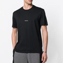 Wholesale vintage paris prints - 2018 Spring Summer Luxury Europe Paris Vintage Letters Hip Hop Tee T-Shirts Mens Designer Women Clothes Short Sleeve T shirt