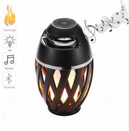 Wholesale wireless speakers indoor outdoor - Flame Atmosphere Speakers, Table Lamp Bluetooth Night Light Outdoor Indoor Portable Stereo Bluetooth Speaker,96 LED Beads,Dancing Flicker