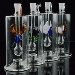 """Mini tubi di acqua in vetro Multicolor automatico a LED da 5 """"pollici Recycler Oil Rig con tubo flessibile da 20"""" e narghilè Narghilè olio Concerntrate Dabs da"""