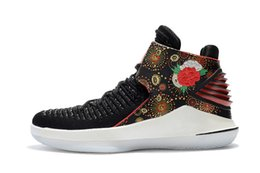 Wholesale Chinese Martial - What the 32 Boots Men 2018 CHINESE NEW YEAR Runner Basketball Sports Floral Print Shoes Bred Sneakers Size 40-46