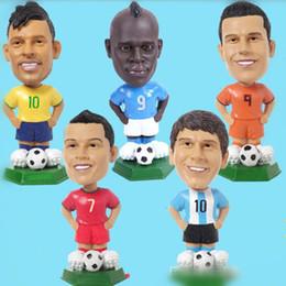 brinquedos de carro estrela Desconto Estrela de futebol Adorável Figuras de Ação Toy World Cup Messi Neymar Fãs Coleção Bonecas de Futebol Presente Do Carro Decorações de Interior OOA5167