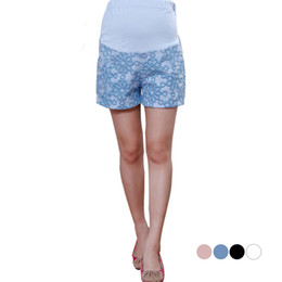 Wholesale Trousers For Pregnant - 2015 Hot fashion thread design maternity women shorts pants trousers lace embroidery for pregnant